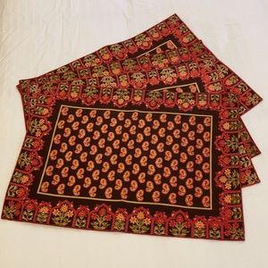 April Cornell 4 placemats 100% cotton India